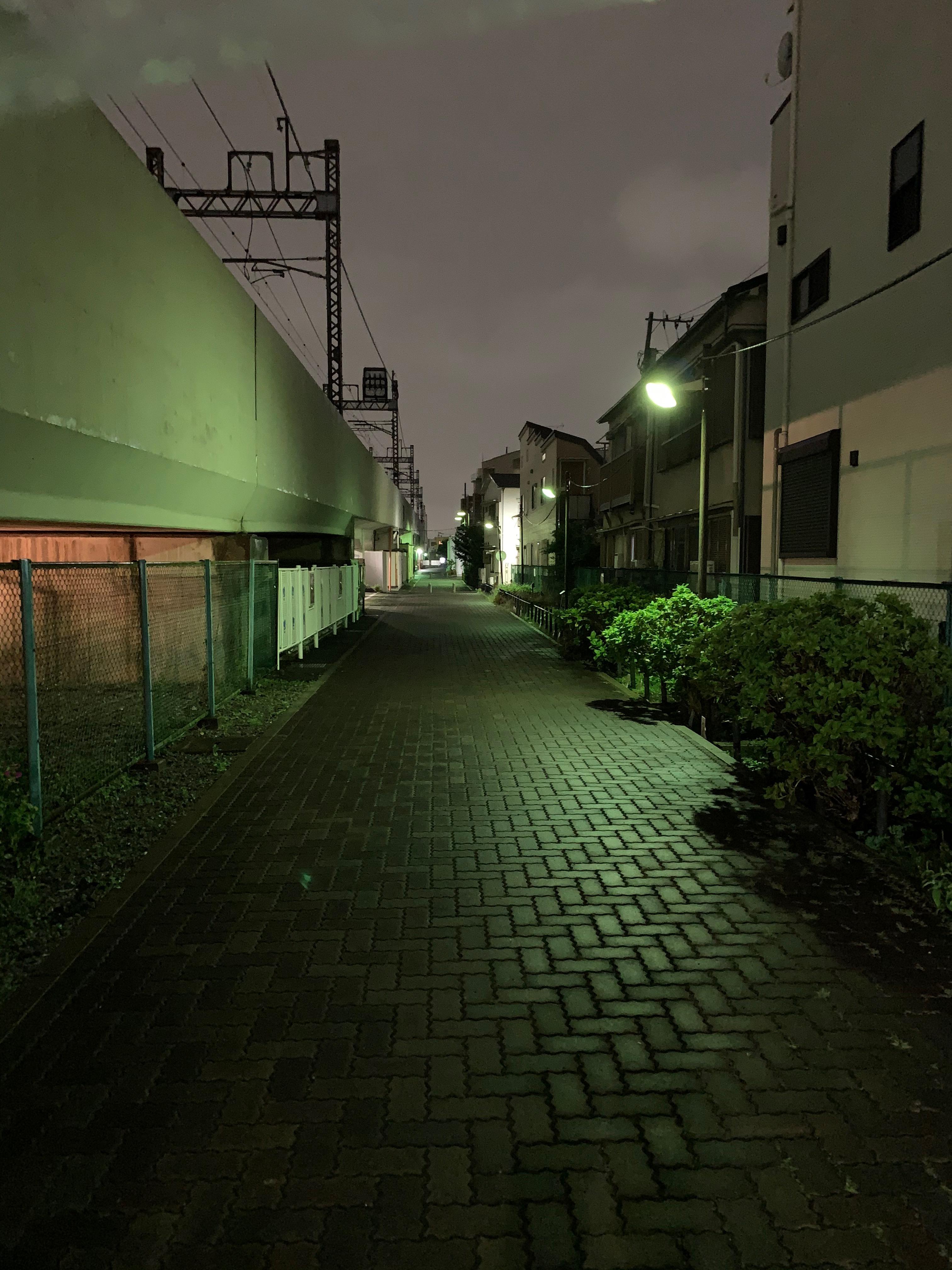 iPhoneXs夜撮影