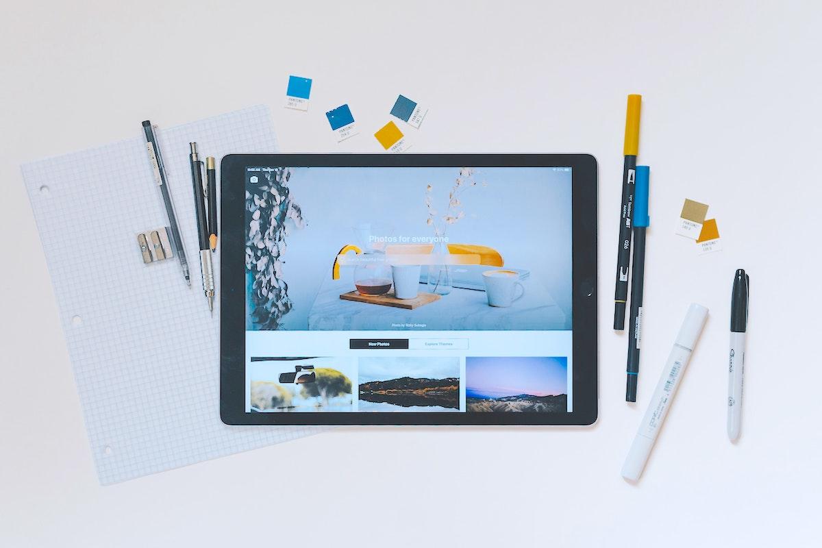 iPadと文房具