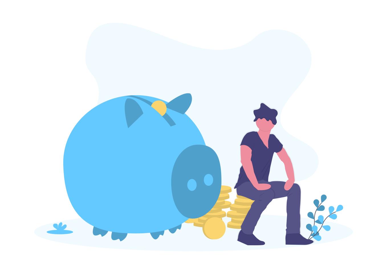 大きい豚の貯金箱